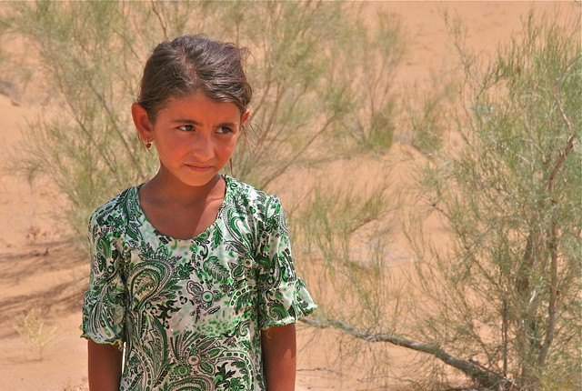 Nomadic Turkmen Girl   Flickr - Photo Sharing!