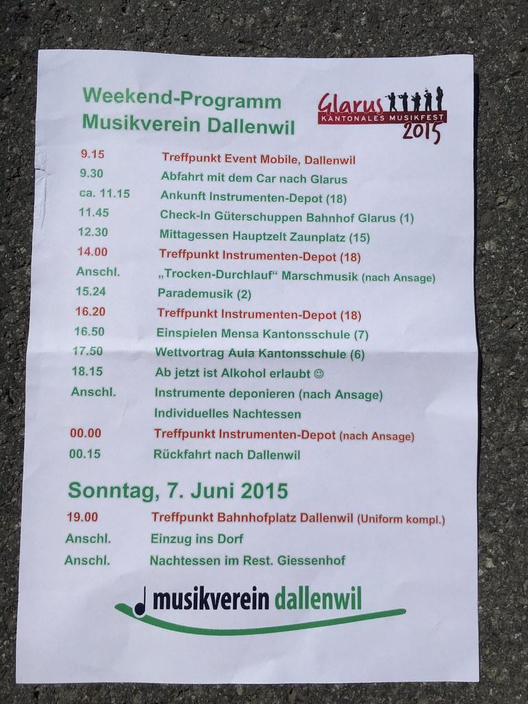 Musikfest Glarus 2015 / 6. Juni 2015