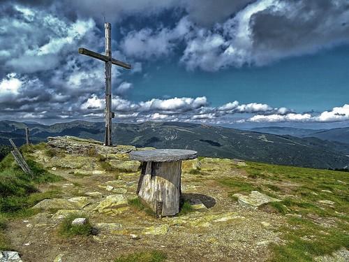 Auf dem Gipfel ( Frauenalpe ) Steiermark