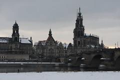 Verschneites Dresden - Altstadt Brühlsche Terrasse Hofkirche Schloss 2010-02-14