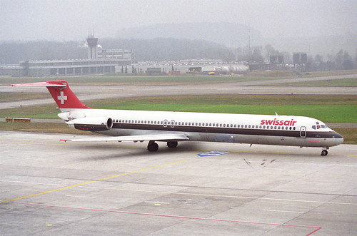 Swissair MD-81; HB-INY@ZRH;26.01.1996