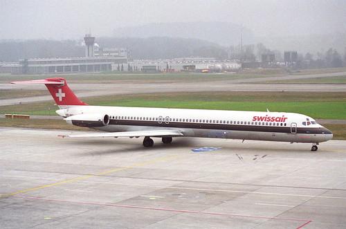 Swissair MD-81; HB-INY@ZRH;26.01.1996