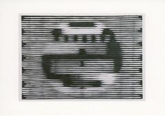 croxcard 91 rik de boe (2008) testbeeld/jaloezie charcoal on zerkallpaper 76,5x53,5cm
