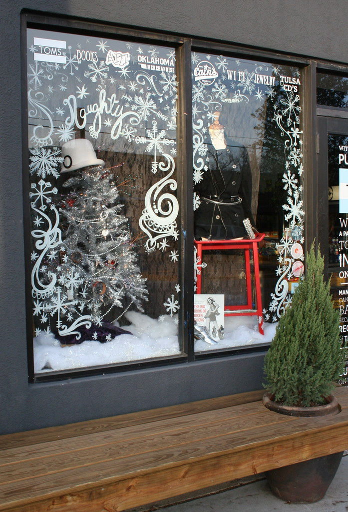 Christmas window display kara paslay design for Christmas window mural