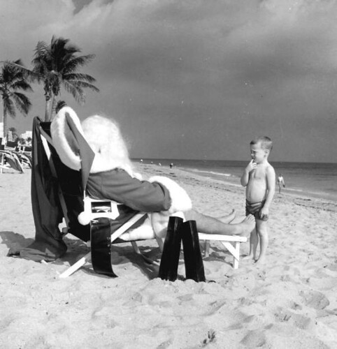 santa on holiday