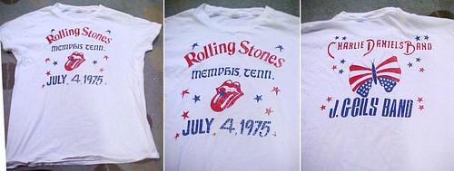 Rolling Stones July 4, 1975 Memphis, Tenn. concert tee