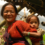 Holding on Tight to Mom - Sikkim