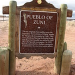 Pueblo of Zuni Interpretive Sign, New Mexico