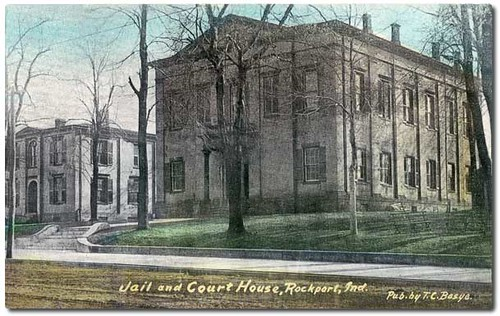 usa color history buildings indiana streetscene jail courthouse rockport spencercounty hoosierrecollections