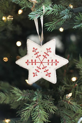 Embroidered Christmas Ornament