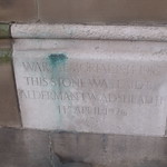 Town Hall, Priory Street, Dudley - War memorial stone