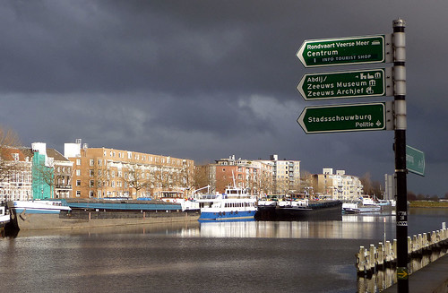 Dark clouds above a sunny Loskade
