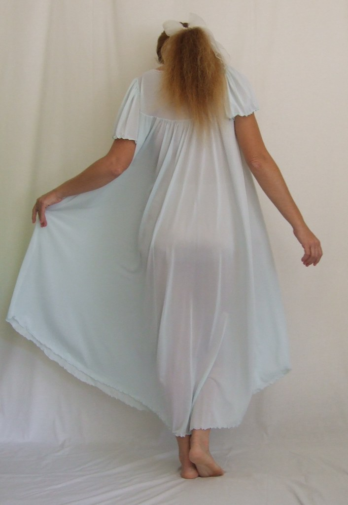 Miss Elaine Pale Blue Short Sleeved Nightgown 2 - a photo on Flickriver