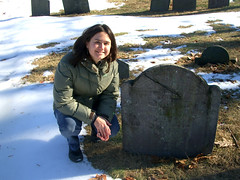 Anne Pringle at a local cemetery in Cambridge,MA