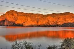 Golden Light on Canyon Lake, Apache Trail