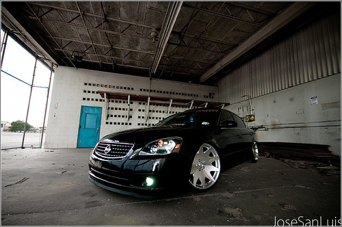 black nissan altima flush stance wheel rims