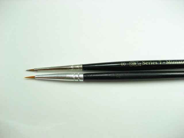 Winsor & Newton Series 7 Kolinsky Sable Brush Short Brush No.00 (0.4mm)