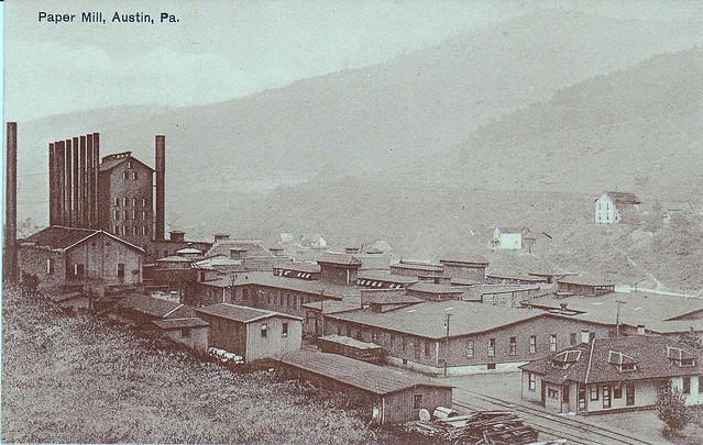 Baylesss Paper Mill Austin Pennsylvania  Circa 1910