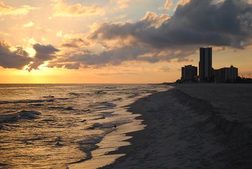 november sunset orange beach gulfofmexico water beautiful yellow clouds evening coast al sand nikon surf waves gulf tide alabama gulfshores 2010 gulfcoast baldwincounty d3000 november2010 nikond3000