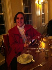 Kate at Valentine's dinner at Hillsborough Vineyard this evening