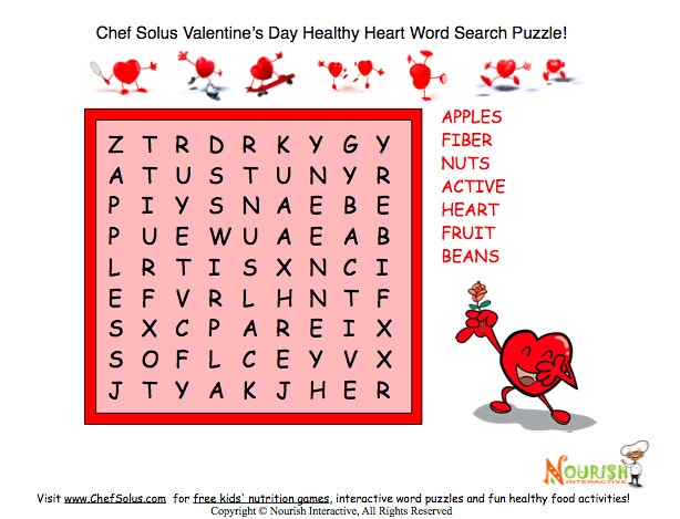 Easy Valentine Word Search Healthy Theme   Flickr - Photo Sharing!