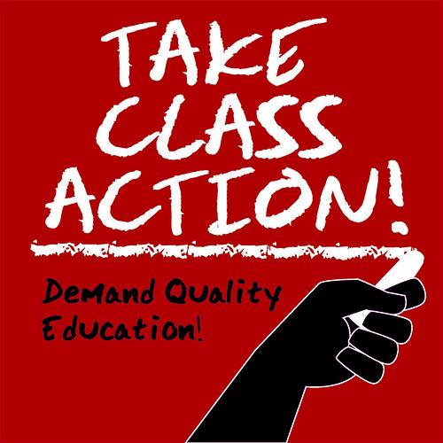 CALFAC's Take Class Action logo