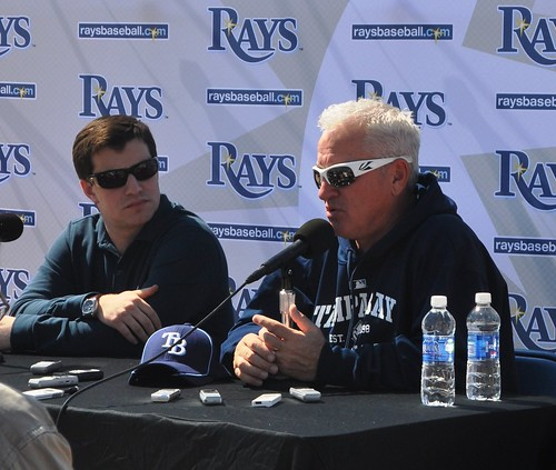Andrew Friedman (left) and Joe Maddon (right)