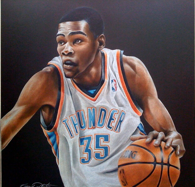 Kevin Durant Drawing Kevin Durant Flickr Photo