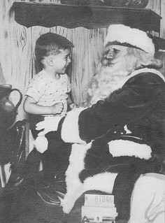 Jimmy, the Photographer, and Santa - December 15, 1953