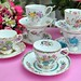 Mixed Vintage Teacups and Saucers