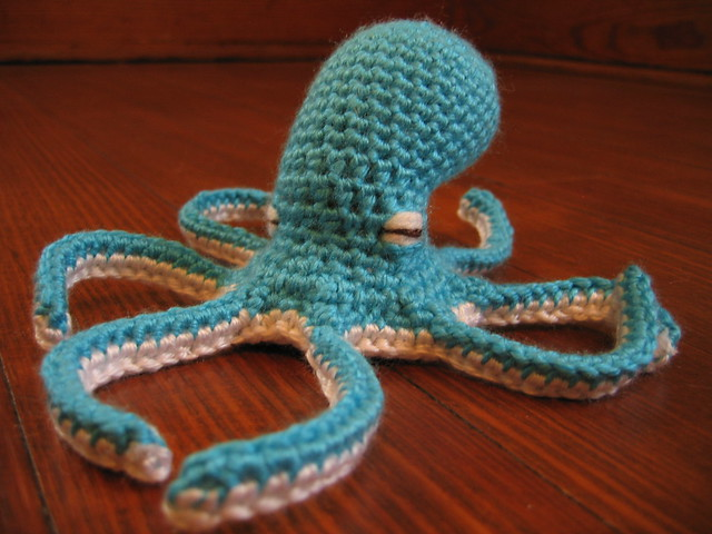 Knitting Pattern Octopus Hat : smurftopus w/o hat Flickr - Photo Sharing!