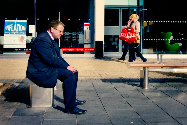Photograph: Inflation; Broadmead, Bristol, March 2011. By Simon Holliday.