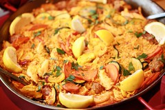 dak galbi(0.0), meal(1.0), paella(1.0), meat(1.0), food(1.0), dish(1.0), cuisine(1.0), jambalaya(1.0),