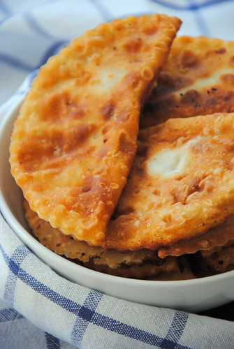 Chebureks - fried pies with meat