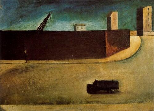 Sironi, Mario (1885-1961) - 1920 Cityscape (Pinacoteca di Brera, Milan, Italy)