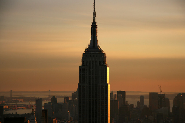 empire state building sunset - photo #13