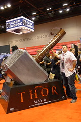 Agent M and the giant Mjolnir
