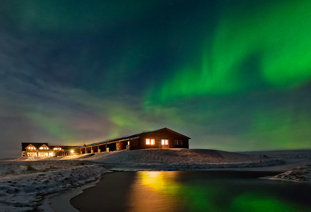 The Northern Lights in Iceland by flickr user heatherbuckley