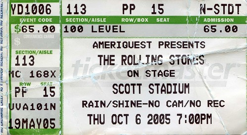 2005 10 06 The Rolling Stones Ticket 537