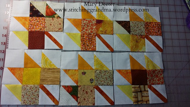 Leaf blocks for Autumn Jubilee