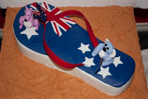 Australia Day Thong Cake