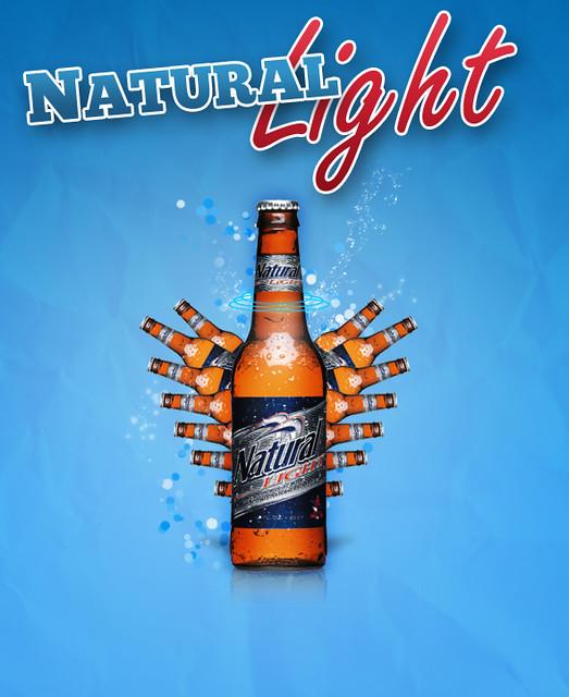 Natural Light Beer Bottles
