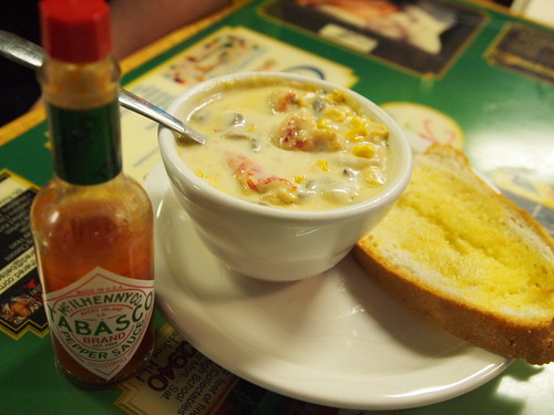 Crawfish Chowder at Monsour's Real Pickle