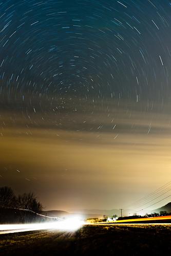 sky cars night clouds dark stars lights north trails va streaks elliston shawsville eastmont