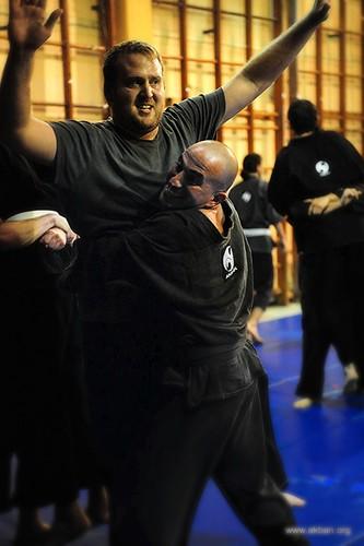sparring in Tel Aviv dojo
