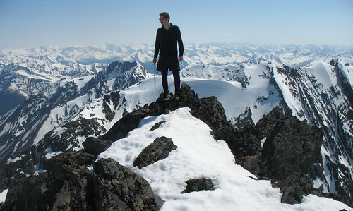 Crow Peak summit. Chugach Mountains, Alaska