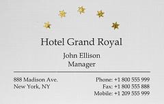 Business Card Visitenkarte Foil Application Gold Fol
