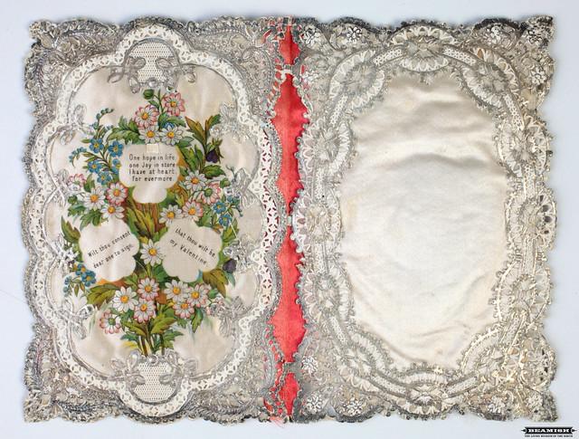 Silk Vintage Valentine Card