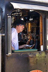 Driver of the steam locomotive