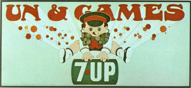 7Up_Un & Games_vintage UnCola billboard poster by Barry Zaid, c1971